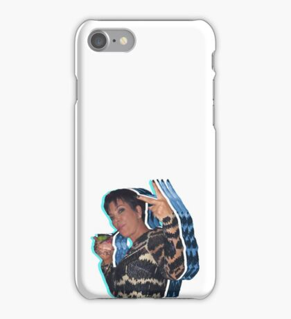 Peace Out Kris Jenner iPhone Case/Skin