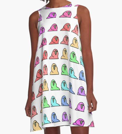 PartyParrot - Conga Party A-Line Dress