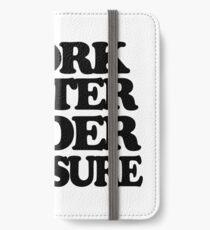 I work better under pleasure - Full body iPhone Wallet/Case/Skin