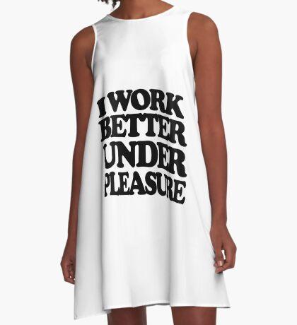 I work better under pleasure - Full body A-Line Dress