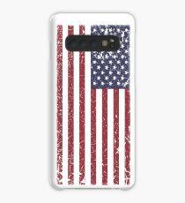 Funda/vinilo para Samsung Galaxy Vintage Look Stars and Stripes Bandera estadounidense