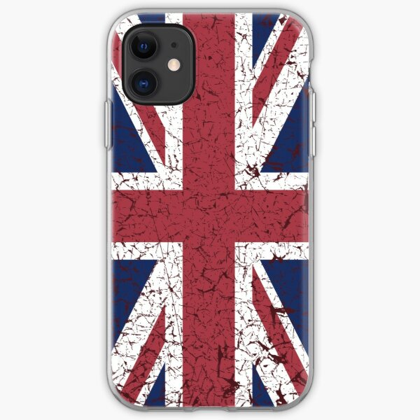 Vintage look Union Jack Flag of Great Britain iPhone Soft Case
