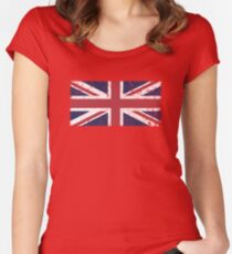 Vintage look Union Jack Flag of Great Britain Fitted Scoop T-Shirt
