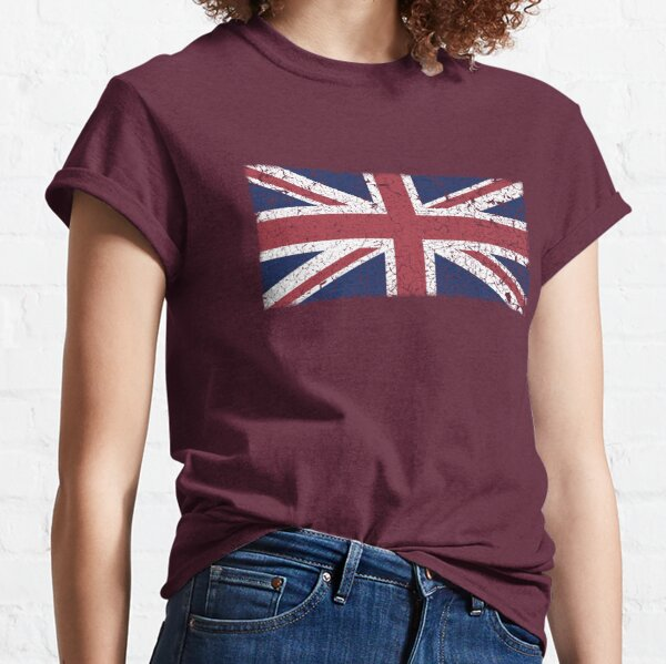 Vintage look Union Jack Flag of Great Britain Classic T-Shirt
