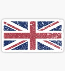 Vintage look Union Jack Flag of Great Britain Sticker