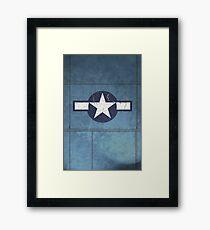 Vintage Look USAAF Roundel Graphic Framed Print