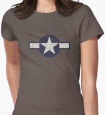 3454872ea Vintage Look USAAF Roundel Graphic Fitted T-Shirt