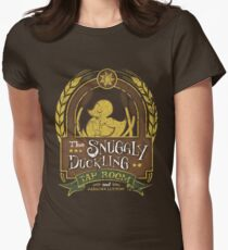 The Snuggly Duckling Tap Room Women's Fitted T-Shirt