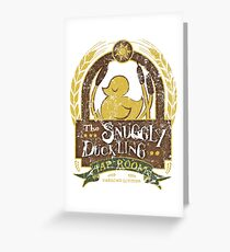 The Snuggly Duckling Tap Room Greeting Card