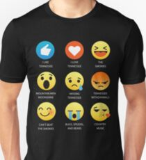 I Love Tennessee Fifty Nifty United States Emoji Emoticon Graphic Tee Shirt Unisex T-Shirt