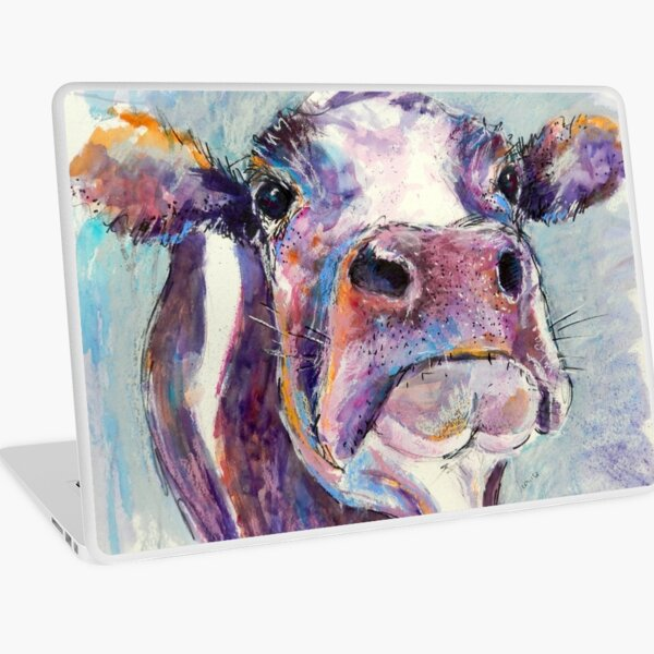 Purple Cow Laptop Skin