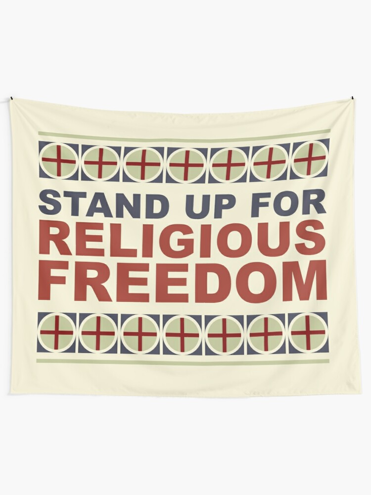 Alternate view of Stand Up For Religious Freedom Tapestry