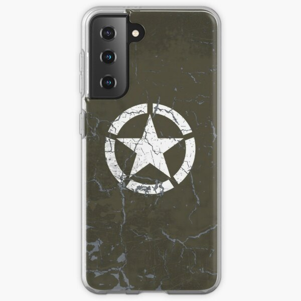 Vintage Look US Army White Star Emblem Samsung Galaxy Soft Case