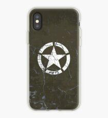Vintage Look US Army White Star Emblem iPhone Case