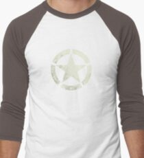Vintage Look US Army White Star Emblem T-Shirt