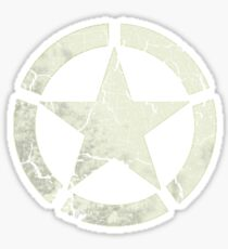 Vintage Look US Army White Star Emblem Sticker
