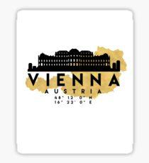 VIENNA AUSTRIA SILHOUETTE SKYLINE MAP ART Sticker