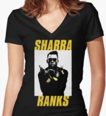 Shabba Ranks Women's Fitted V-Neck T-Shirt