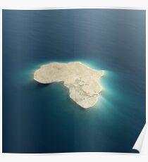 Africa conceptual island design Poster