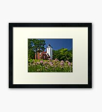 Flowers at the Light - Michigan Framed Print