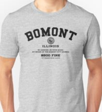 Bomont Illinois No Dancing Ordinance Unisex T-Shirt