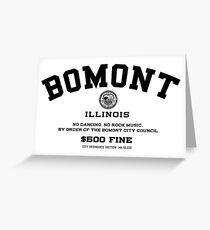 Bomont Illinois No Dancing Ordinance Greeting Card