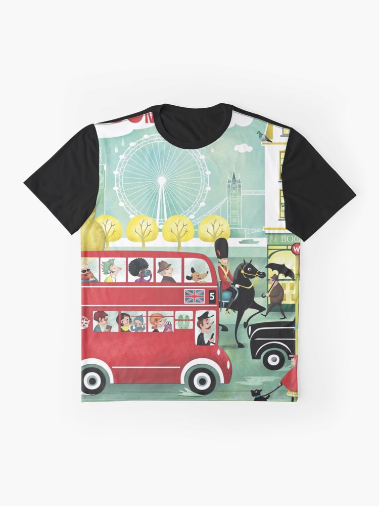 Alternate view of Happy London Graphic T-Shirt