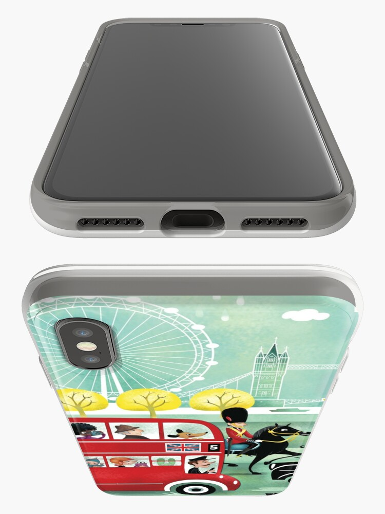Alternate view of Happy London iPhone Case & Cover