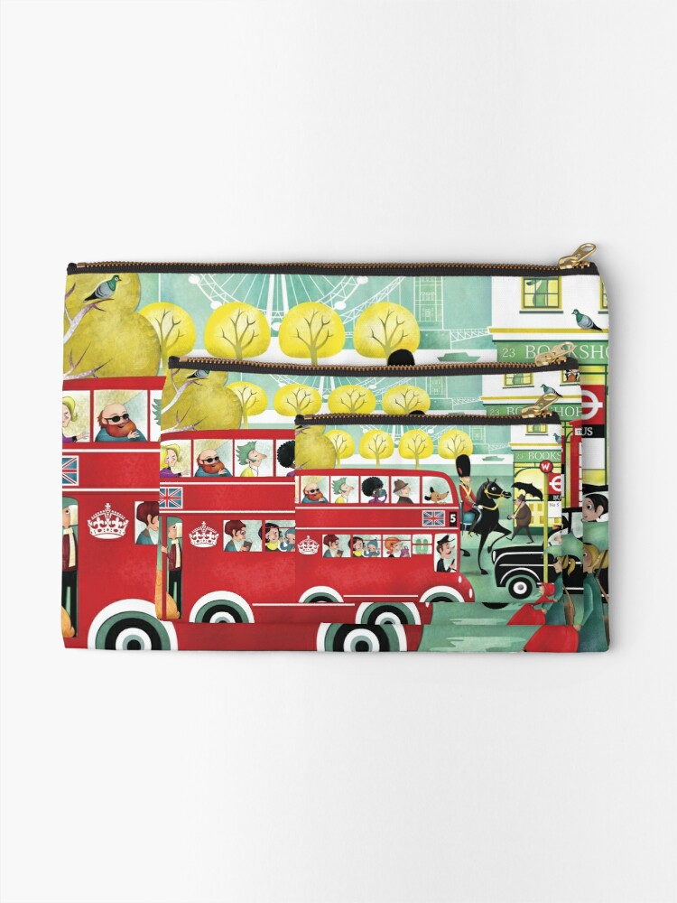 Alternate view of Happy London Zipper Pouch