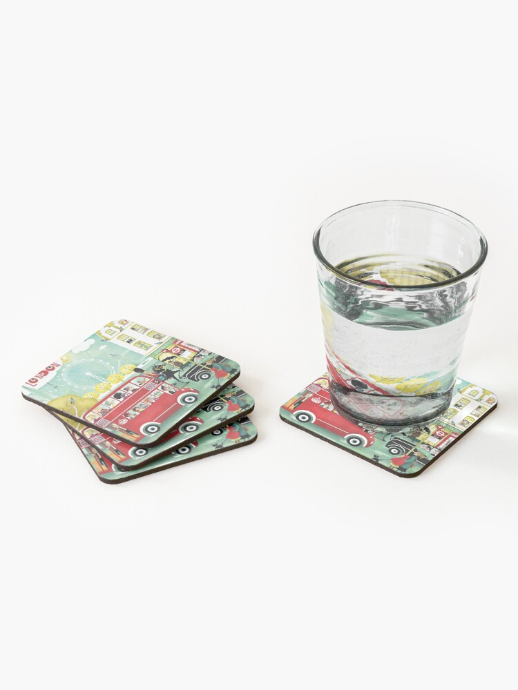 Alternate view of Happy London Coasters (Set of 4)