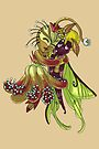 Plant and Insect Girl Hug MONSTER GIRLS Series I by angelasasser