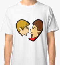 Heart-shaped couple Classic T-Shirt