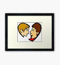 Heart-shaped couple Framed Print