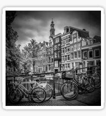AMSTERDAM Bloemgracht schwarz-weiß  Sticker