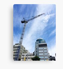 Crane In The City Canvas Print