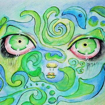 green blue stare by green0pencil