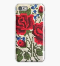 Red Roses Needlepoint iPhone Case/Skin