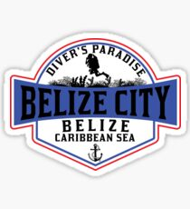 DIVING BELIZE CITY DIVER'S PARADISE SCUBA CARIBBEAN SEA DIVER SNORKELING Sticker