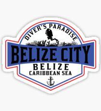 DIVING BELIZE CITY DIVER'S PARADISE SCUBA CARIBBEAN SEA DIVER SNORKELING Sticker