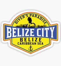 DIVING BELIZE CITY DIVER'S PARADISE SCUBA CARIBBEAN SEA DIVER SNORKELING 2 Sticker