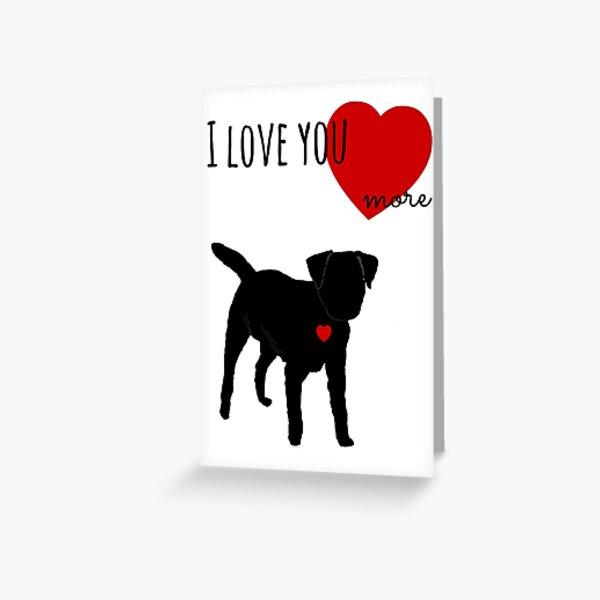 Valentine Border Terrier Greeting Card
