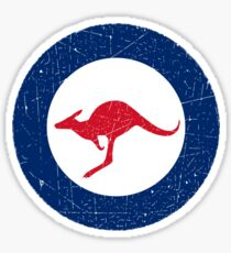 Vintage Look Royal Australian Air Force Roundel  Sticker
