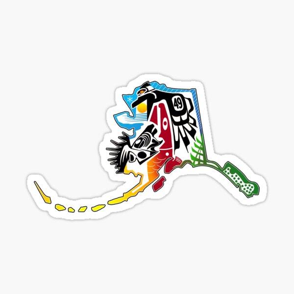ALASKA PRIMITIVE DESIGN Sticker