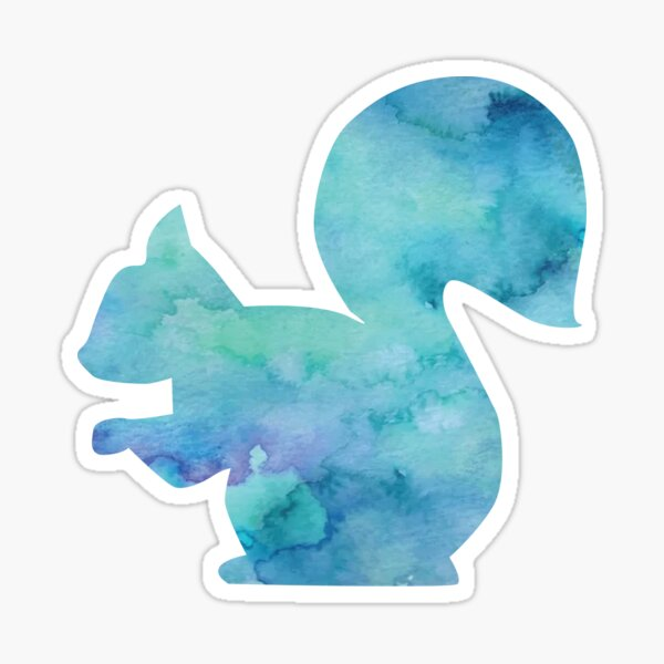 Blue Squirrel Sticker