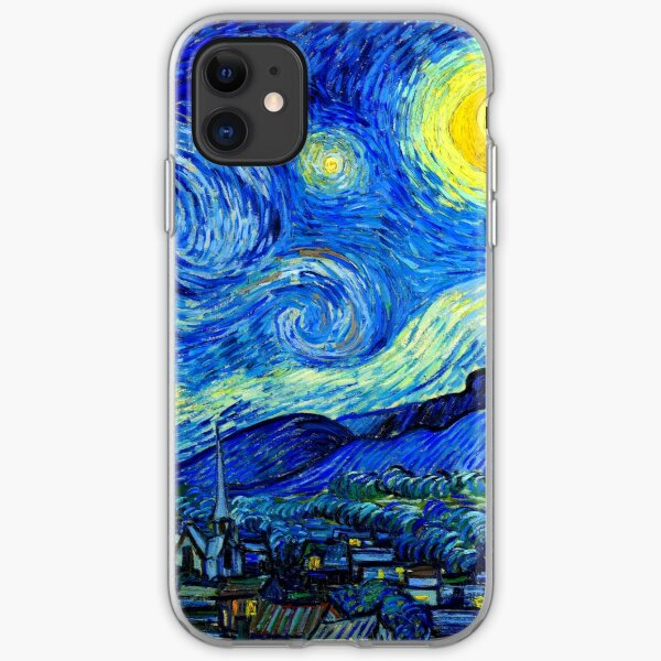Starry Night by Van Gogh iPhone Soft Case