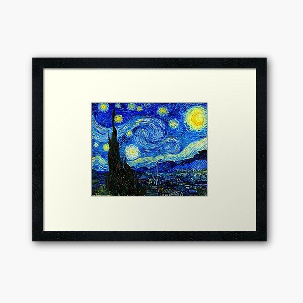 Noche estrellada de Van Gogh Lámina enmarcada