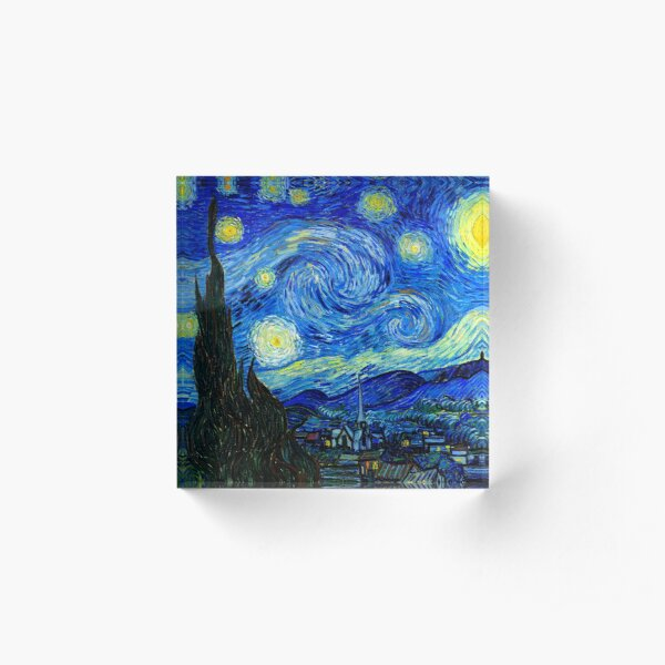 Starry Night by Van Gogh Acrylic Block