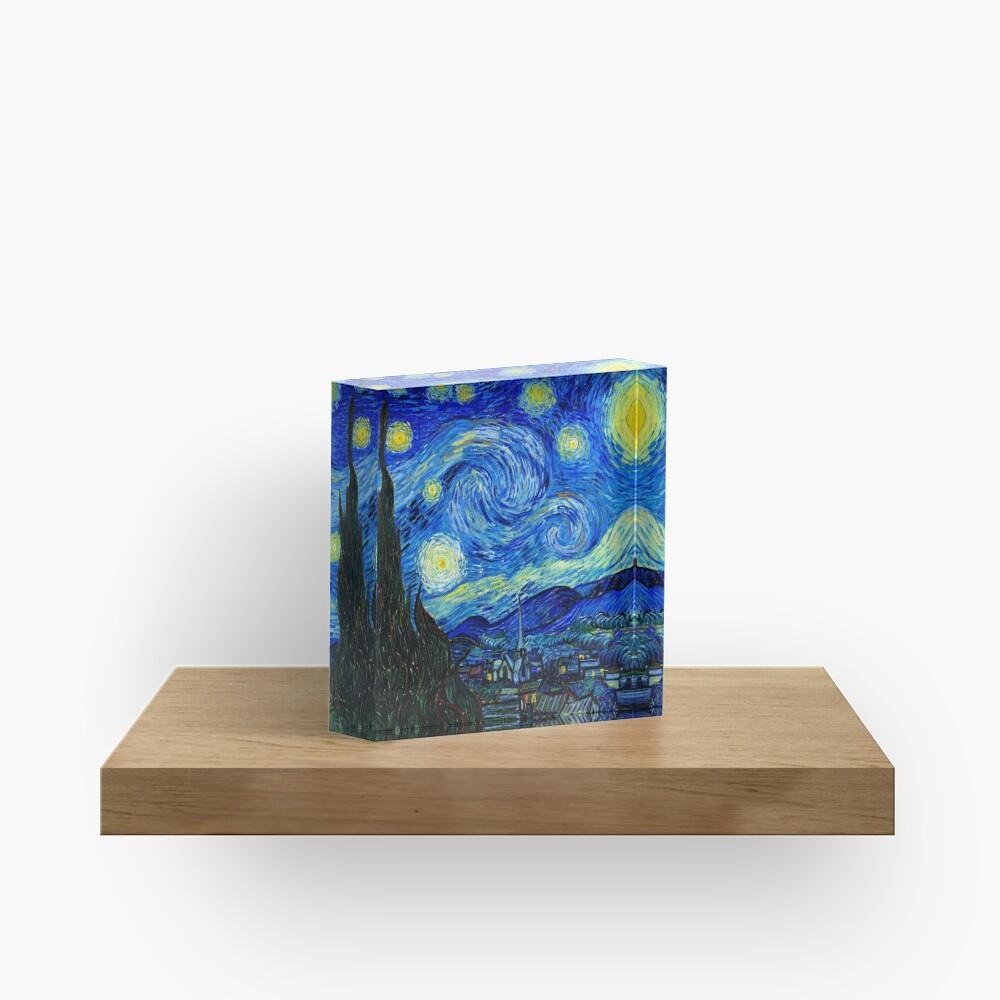 Starry Night by Van Gogh Acrylic Block