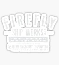 Firefly Ship Works Sticker