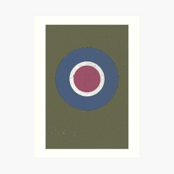 Vintage Look WW2 British Royal Air Force Roundel Art Print
